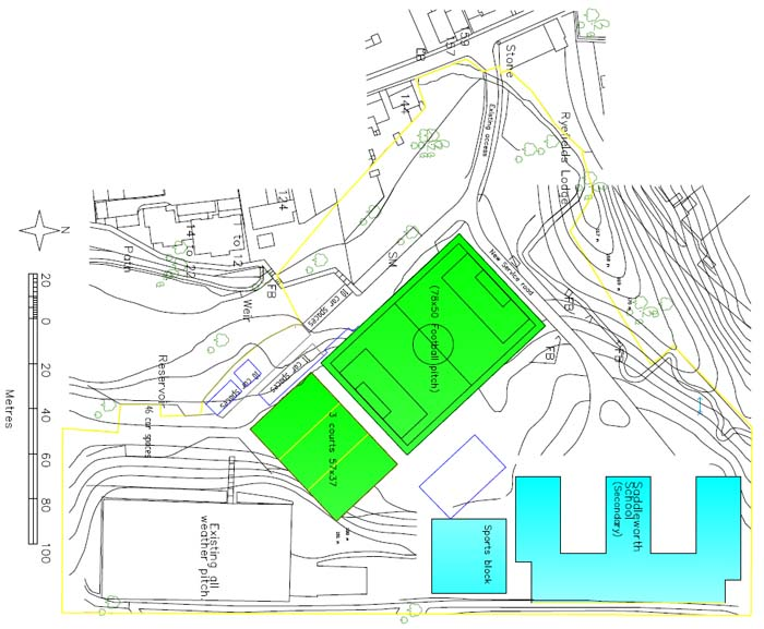 Proposed Scheme for Rebuilding Saddleworth School on the Existing Uppermill Site