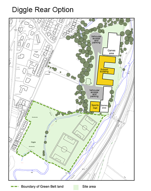 Oldham Council's preferred option for new Saddleworth School