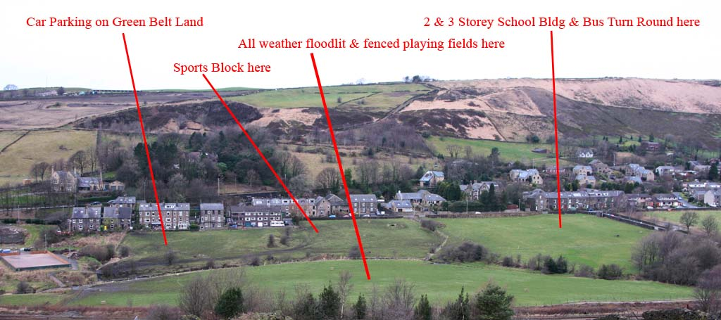 The green fields in Diggle proposed for the new Saddleworth School