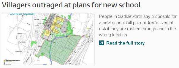 Villagers outraged at plans for new school - ITV Granada News