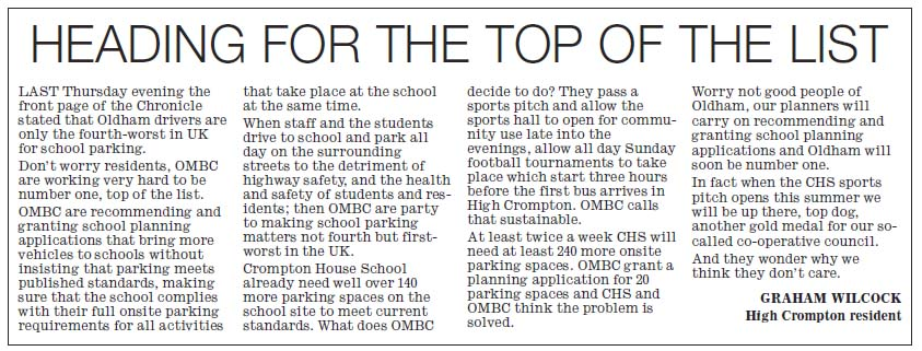 Heading for the top of the list - new Saddleworth School