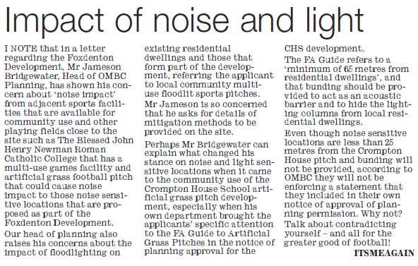 Impact of light and noise - new Saddleworth School